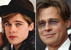 Brad Pitt Before and After